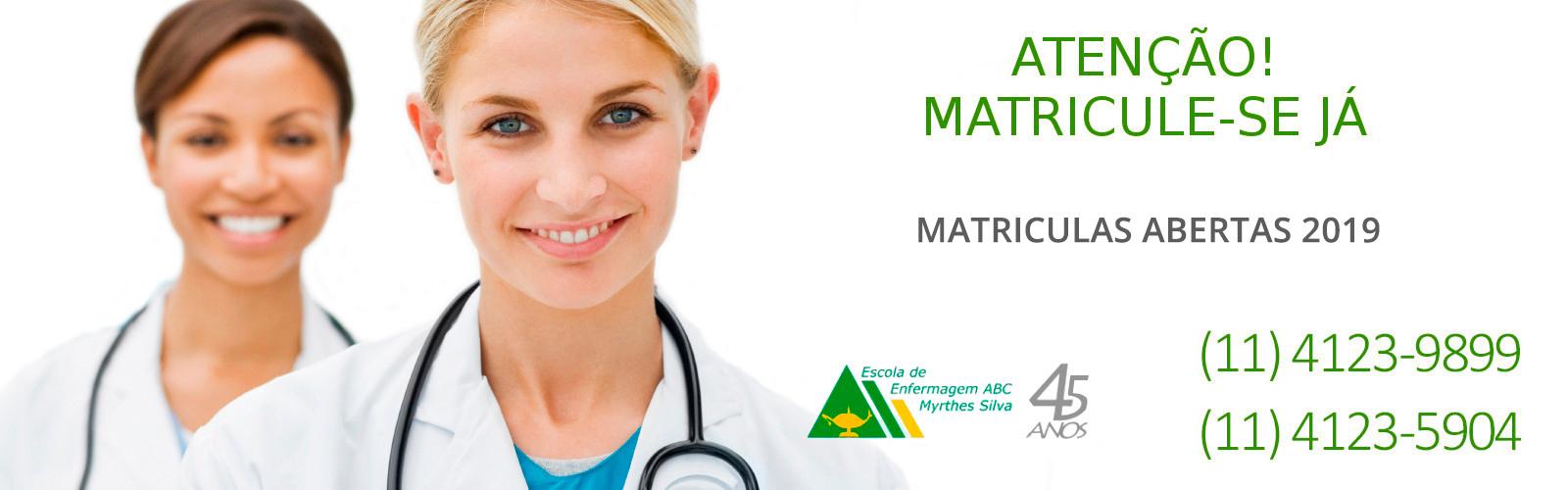 Matrículas abertas curso de enfermagem 2019