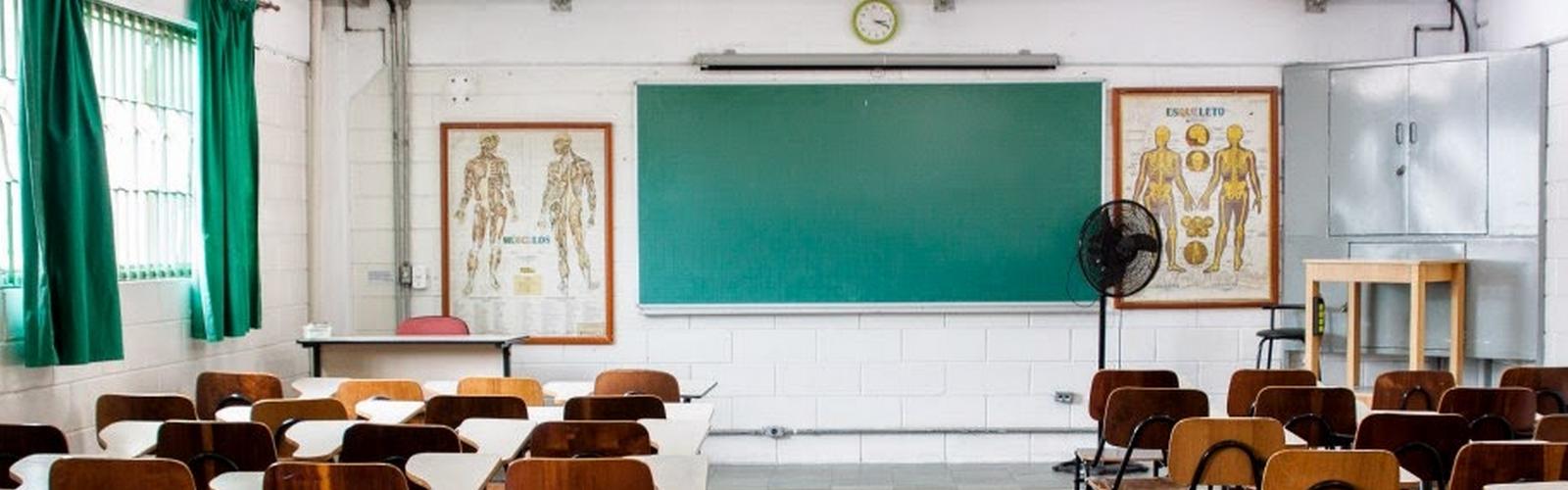 Sala de aula Escola de Enfermagem ABC Myrthes Silva