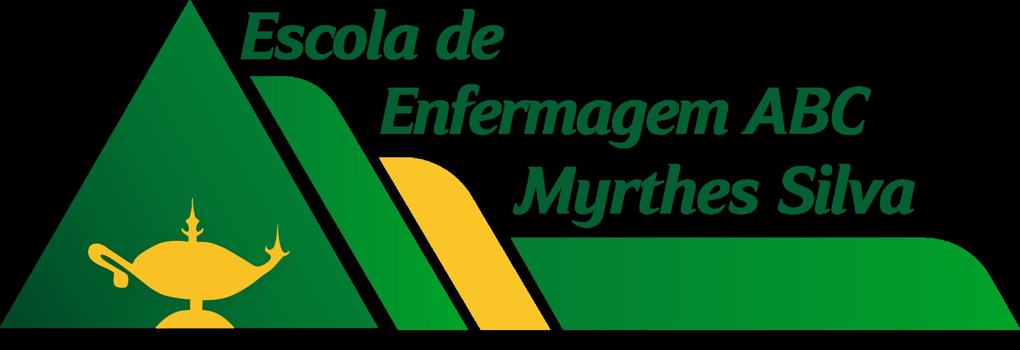 Logo Escola de Enfermagem ABC Myrthes Silva 45 anos